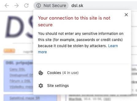 نا امن توصیف شدن وب سایت از طرف گوگل به خاطر نداشتن SSl