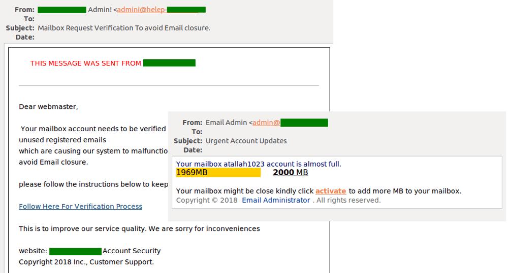 نوتیفیکیشن های جعلی از طرف سرویس های ایمیل